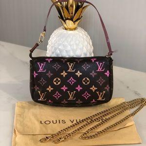 Authentic Louis Vuitton customized pouchette